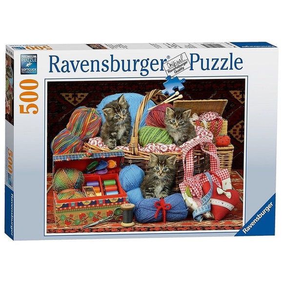 Ravensburger Knitters Delight Puzzle 500pc-RB14785-4-Animal Kingdoms Toy Store