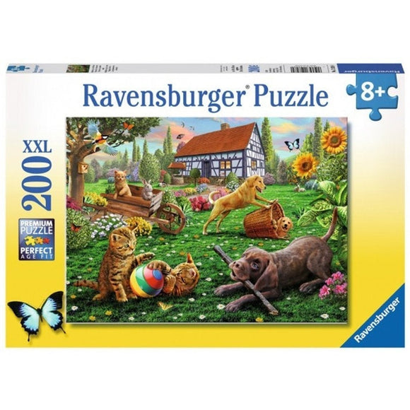 Ravensburger Playing in the Yard Puzzle 200pc-RB12828-0-Animal Kingdoms Toy Store