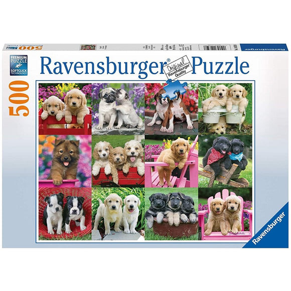 Ravensburger Puppy Pals Puzzle 500 pc-RB14659-8-Animal Kingdoms Toy Store