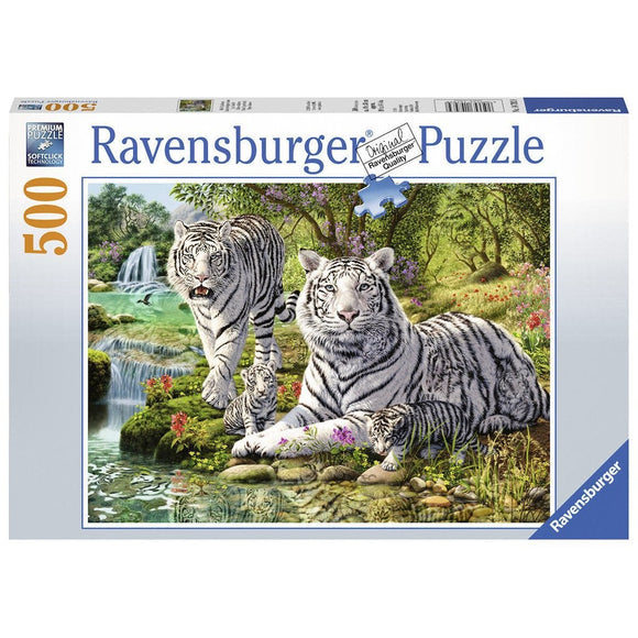 Ravensburger White Cat Puzzle 500pc