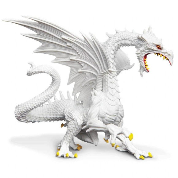 Safari Ltd Snow Dragon Glow in the Dark - AnimalKingdoms.co.nz