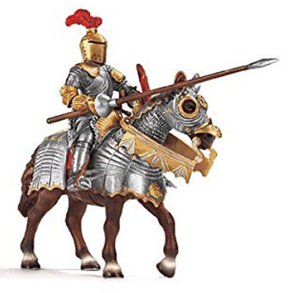 Schleich Knight with Lance on Horseback-70017-Animal Kingdoms Toy Store