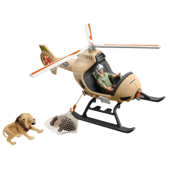 Schleich Animal Rescue Helicopter-42476-Animal Kingdoms Toy Store