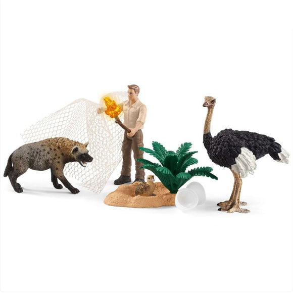 Schleich Attack Of The Hyena-42504-Animal Kingdoms Toy Store