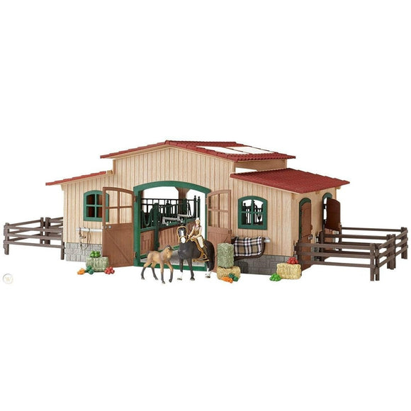 Schleich Horse Stable with Accessories-42110-Animal Kingdoms Toy Store