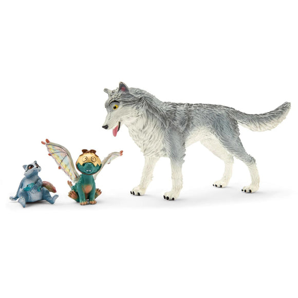 Schleich Lykos, Nugur & Piuh-70710-Animal Kingdoms Toy Store