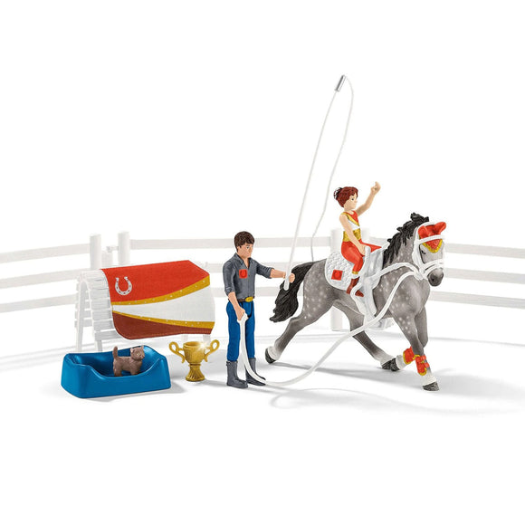Schleich Mia's Vaulting Riding Set-42443-Animal Kingdoms Toy Store
