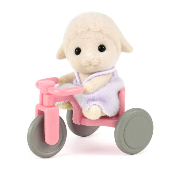 Sylvanian Families Sheep Baby With Tricycle - AnimalKingdoms.co.nz