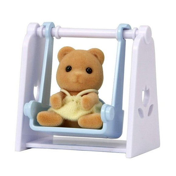Sylvanian Families Bear Baby With Swing - AnimalKingdoms.co.nz