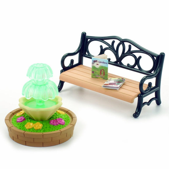 Sylvanian Families Bench & Fountain Set - AnimalKingdoms.co.nz