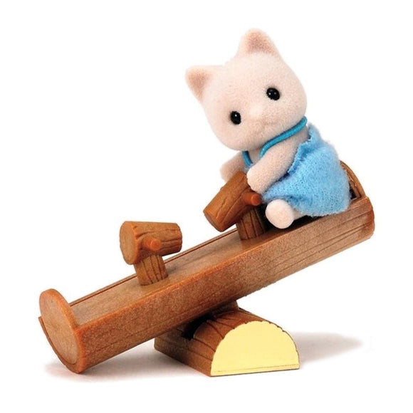 Sylvanian Families Cat Baby With See-Saw-4560-Animal Kingdoms Toy Store