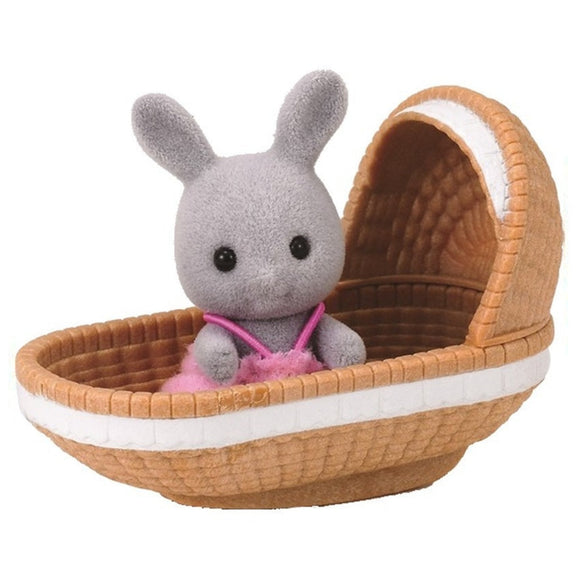 Sylvanian Families Rabbit With Crib Hang Sell - AnimalKingdoms.co.nz