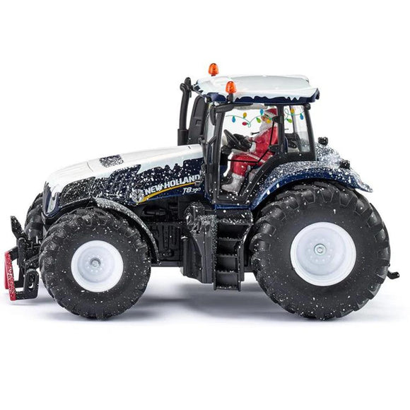 Siku Christmas tractor 1:32 New Holland T8.390-3220-Animal Kingdoms Toy Store