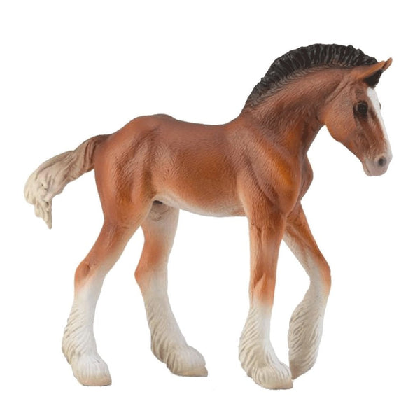 CollectA Clydesdale Foal Bay-88625-Animal Kingdoms Toy Store