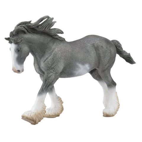 CollectA Clydesdale Stallion Black Sabino - Horses - AnimalKingdoms.co.nz