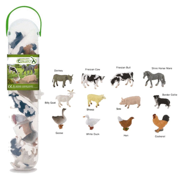CollectA Mini Farm Animals Tube 12 Piece-89A1110-Animal Kingdoms Toy Store