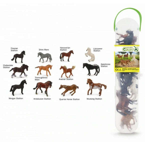CollectA Mini Horse Tube 12 Piece-89A1109-Animal Kingdoms Toy Store