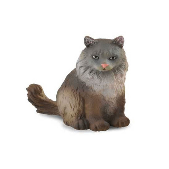 CollectA Norwegian Forest Cat Sitting-88327-Animal Kingdoms Toy Store