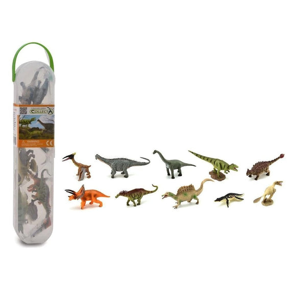 CollectA Mini Prehistoric Tube 10 Piece (B)-89A1102-Animal Kingdoms Toy Store
