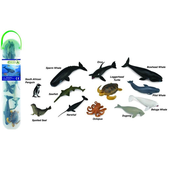 CollectA Mini Sea Life Tube 12 Piece (A)-89A1108-Animal Kingdoms Toy Store