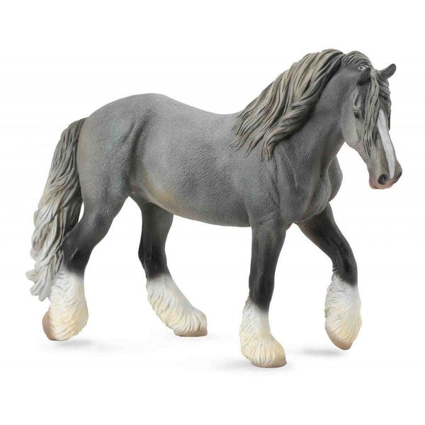 CollectA Shire Horse Mare Grey-88574-Animal Kingdoms Toy Store