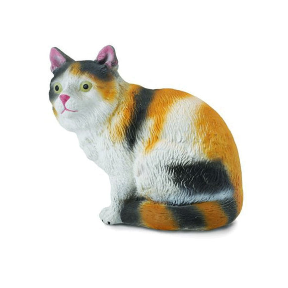 CollectA Tri Colour House Cat Sitting - Cats and Dogs - AnimalKingdoms.co.nz
