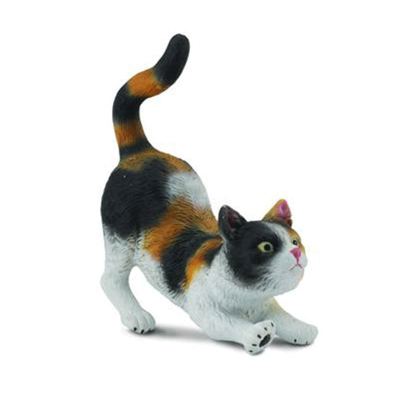 CollectA Tri Colour House Cat Stretching - AnimalKingdoms.co.nz