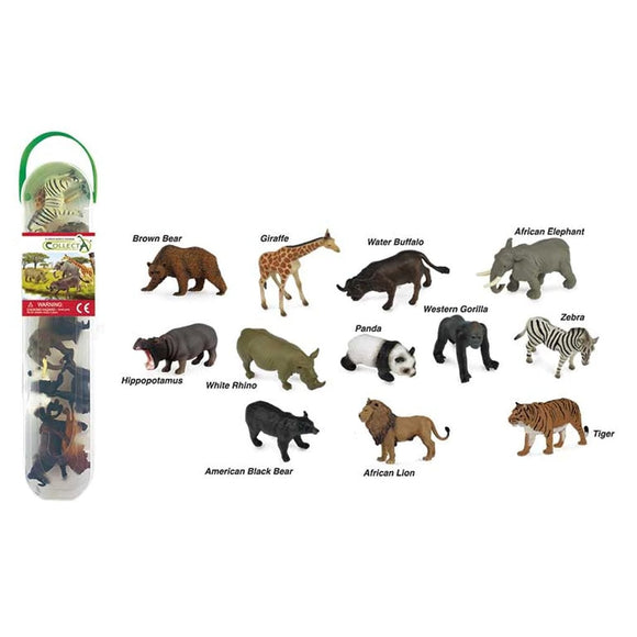 CollectA Mini Wild Animals Tube 12 Piece-89A1105-Animal Kingdoms Toy Store