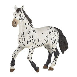 Papo Appaloosa Horse Black - Horses - AnimalKingdoms.co.nz