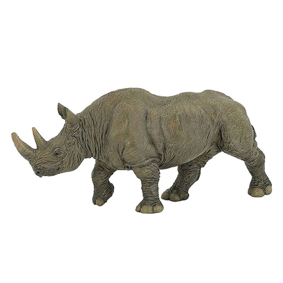 Papo Black Rhinoceros-50066-Animal Kingdoms Toy Store