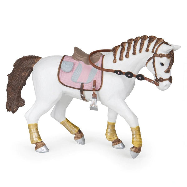 Papo Braided Mane Horse-51525-Animal Kingdoms Toy Store
