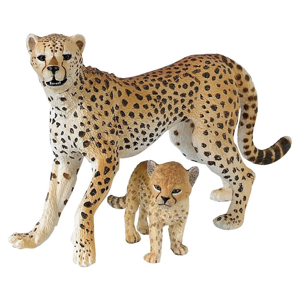 Papo Cheetah with Cub - AnimalKingdoms.co.nz