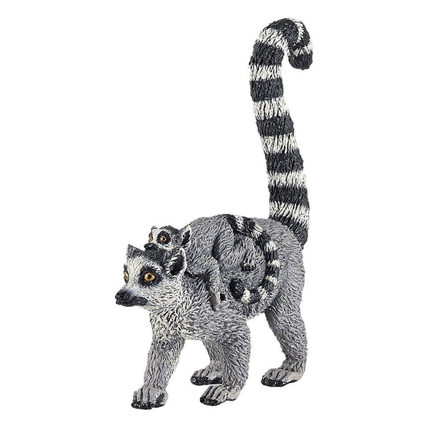 Papo Lemur with Baby-50173-Animal Kingdoms Toy Store
