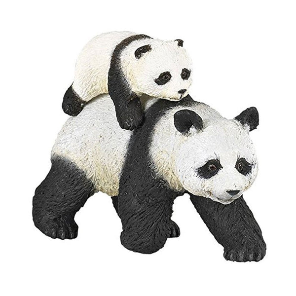 Papo Panda with Panda Baby - Wild Life - AnimalKingdoms.co.nz