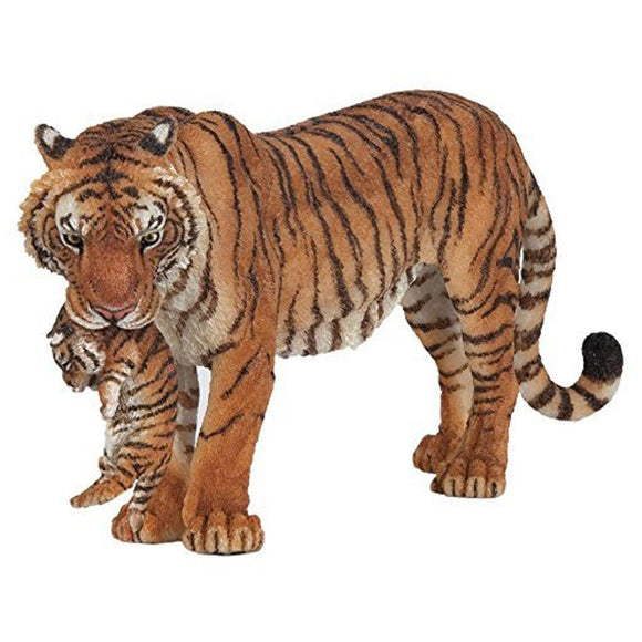 Papo Tigress with Cub-50118-Animal Kingdoms Toy Store