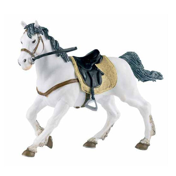 Papo White Horse Saddled - AnimalKingdoms.co.nz