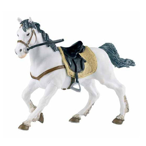 Papo White Horse Saddled - Horses - AnimalKingdoms.co.nz