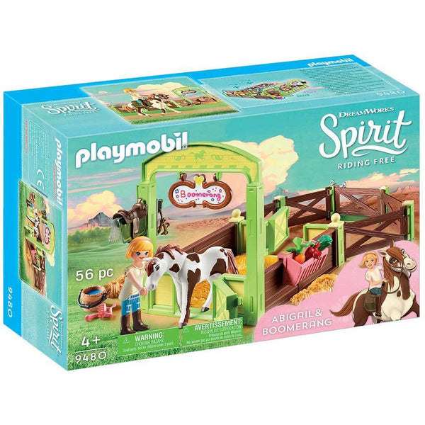 Playmobil DreamWorks Spirit Riding Free Abigail & Boomerang with Horse Stall - AnimalKingdoms.co.nz