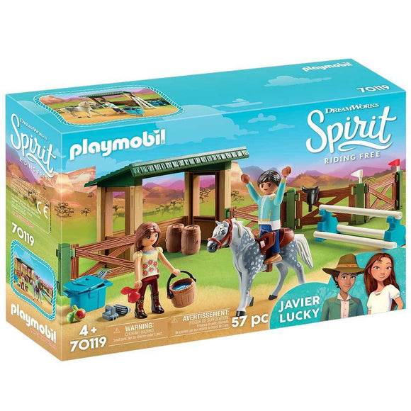 Playmobil DreamWorks Spirit Riding Free Riding Arena with Lucky & Javier-70119-Animal Kingdoms Toy Store
