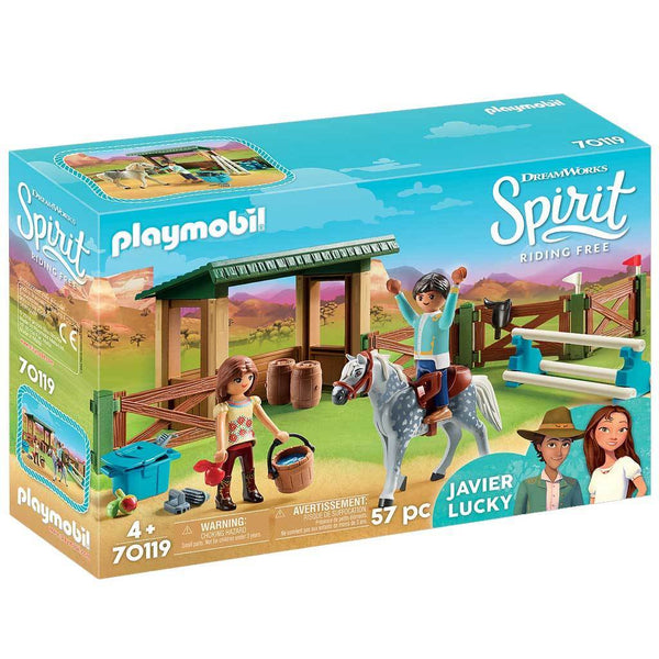 Playmobil DreamWorks Spirit Riding Free Riding Arena with Lucky & Javier - Spirit - AnimalKingdoms.co.nz