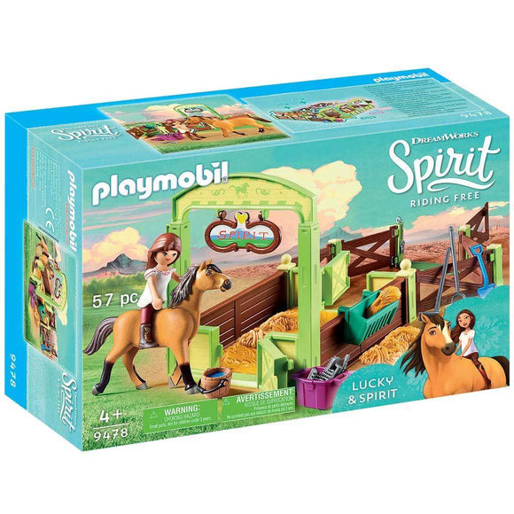 Playmobil DreamWorks Spirit Riding Free Lucky & Spirit with Horse Stall-909478-Animal Kingdoms Toy Store
