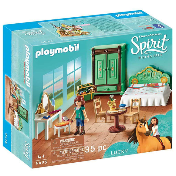 Playmobil DreamWorks Spirit Riding Free Lucky's Bedroom-909476-Animal Kingdoms Toy Store