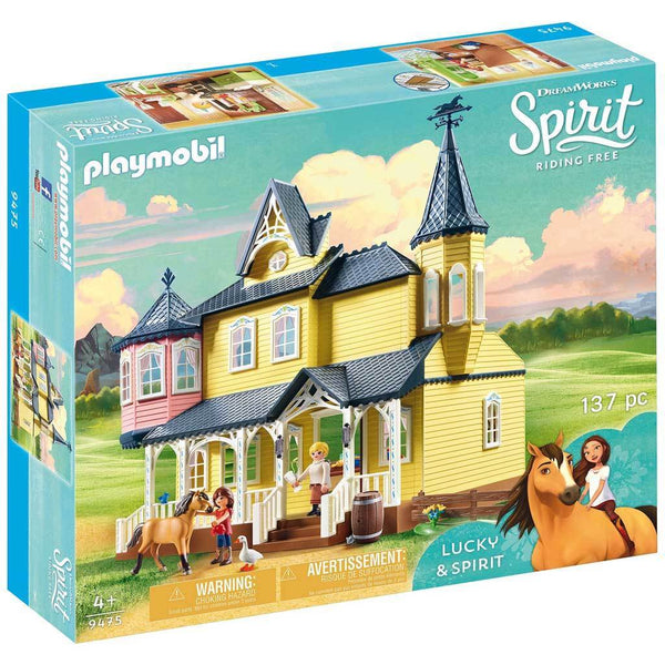 Playmobil DreamWorks Spirit Riding Free Lucky's Happy Home - Spirit - AnimalKingdoms.co.nz