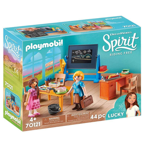 Playmobil DreamWorks Spirit Riding Free Miss Flores Classroom-70121-Animal Kingdoms Toy Store