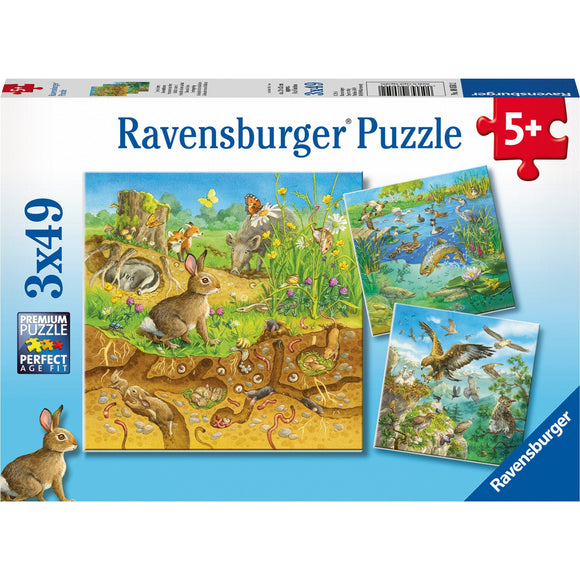 Ravensburger Animals in their Habitats 3x49pc-RB08050-2-Animal Kingdoms Toy Store
