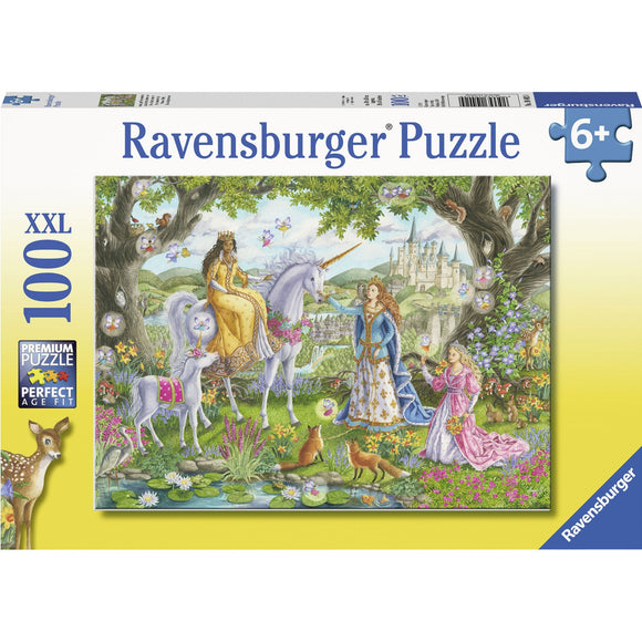 Ravensburger Princess Party Puzzle 100pc-RB10402-4-Animal Kingdoms Toy Store