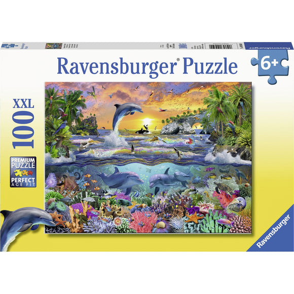 Ravensburger Tropical Paradise Puzzle 100pc - AnimalKingdoms.co.nz