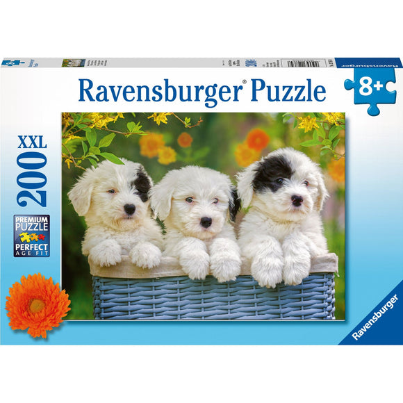 Ravensburger Cuddly Puppies Puzzle 200pc-RB12765-8-Animal Kingdoms Toy Store