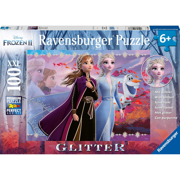 Ravensburger Frozen 2 Strong Sisters GLITTER 100pc-RB12868-6-Animal Kingdoms Toy Store
