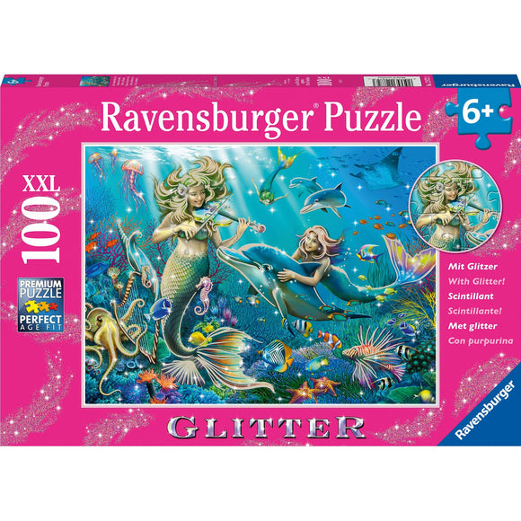 Ravensburger Underwater Beauties GLITTER 100pc-RB12872-3-Animal Kingdoms Toy Store